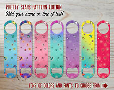 Pretty Stars Pattern Custom Bartender Bottle Opener Add Text/Choose Color & Font