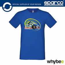 New! 01220 Sparco GO! Kart Karting T-Shirt 100% Cotton in Blue Sizes S-XXL