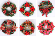 Artificial Flower Wreath Door Wall Hanging Christmas Ornament Xmas Party Decor