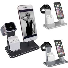 4in1 Watch Stand Charger Dock Holder Aluminum for Airpods/Apple Watch/iPhone X 8