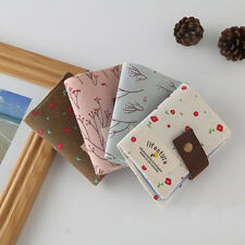 Womens Floral Credit Card Id Card Case Purse Holder Pouch Coin Orgnizer Wallet