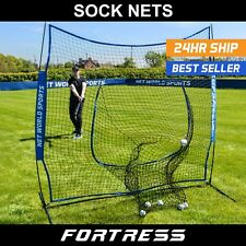 FORTRESS Baseball 7' x 7' Sock Net Screen | Hitting & Pitching Practice Screen