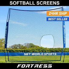 FORTRESS Baseball/Softball 7' x 7' Pitching Screen | Pitching Practice Net