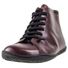 Camper Peu Cami Mid Unisex Brown Leather Casual Boots Lace-up Genuine Shoes