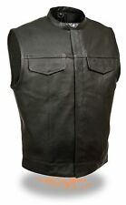 Leather Vest Leather Motorcycle Kutte Biker Vest Sizes S-5XL selecable! NEW