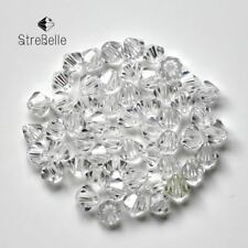 Bicone Beads Crystal AB 100PCS/LOT 4mm Czech Loose crystal beads/ Faceted Glass