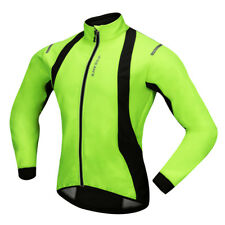 Mens Cycling Jacket Winter Thermal Fleece Windproof Long Sleeve Jersey Coat