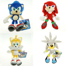 1 or 4pcs Silver Sonic The Hedgehog Sonic Knuckles Tails Stuffed Plush Doll Toy