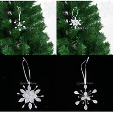Silver Alloy Hanging Snowflake Rhinestone Christmas Tree Ornaments Decoration