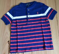 Ralph Lauren Polo Boys T Shirt - STRIPE-SIZES - 2,3,4 & 14-16 YEARS   - NEW