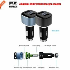 Quick Charge 4.8A Car Charger Smart USB Dual-port Car Charger Adapter with Light