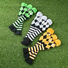 3Pcs Hand Knitted Golf Club Headcover for Taylormade Driver 3 & 5 Fairway Wood