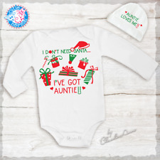 Who Needs Santa I've got Uncle Onesie Gift Set Baby Christmas Outfit Baby Gifts