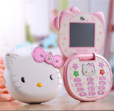 2017 New Mini Small Cute Cartoon Flip Hello Kitty Student Child MP3 Mobile Phone