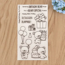 Cute Pig Bears Silicone Stamp Sticker For DIY Craft Diary Photo Album Decoration