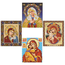 5D DIY Diamond Embroidery Madonna and Jesus Painting Cross Stitch Home Decor