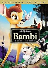 Disney Bambi 2-Disc Special Edition/Platinum Edition DVD with Slip Cover New