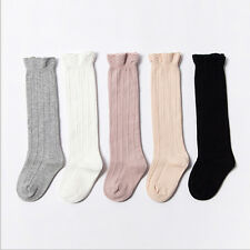 Baby Toddler Girl Cotton Knee High Socks Tights Leg Warmer Stockings For 0-3Y*~*