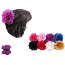6pcs Women's Girl Flower Rose Jaw Hair Clip Claw Double Sided Updo Pin Party Lot