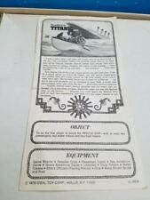 VINTAGE 1976 IDEAL SINKING OF THE TITANIC REPLACEMENT GAME PIECES PARTS CHOICE