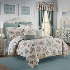 Croscill: New Beckett 5 pc Queen Comforter Set;Teal, Mustard & Burnt Orange