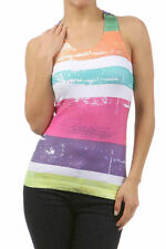 Tank Top Summer Neon Colorful Sublimation Stripe Racerback One Size Fits Most