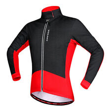 Windproof Thermal Fleece Cycling Jacket Bike Jersey Long Sleeve Night Riding