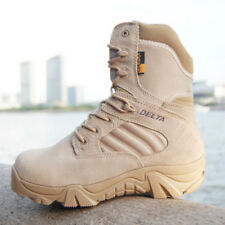 Men Army Tactical Combat Military Ankle Boots Work Desert Shoes