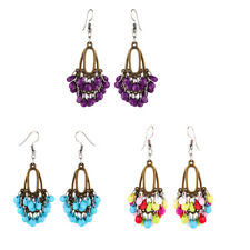 Ethnic Trendy Tassel Beads Drop Dangle Earrings Women Ear Party Jewelry Gift