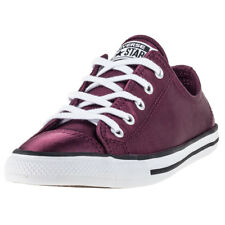 Converse Ctas Dainty Ox Satin Sangria Womens Trainers Wine New Shoes