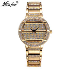 Miss Fox Fashion Women Watches Rhinestone Diamond Quartz Luxury Brand Wristwatch