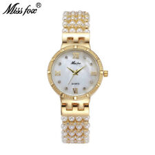 Miss Fox Pearl Band Womens Wristwatch Fashion Diamond Female Gold Quartz Watches