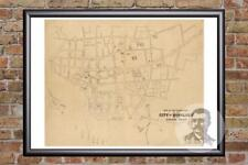 Vintage Honolulu, HI Map 1893 - Historic Hawaii Art - Old Victorian Industrial
