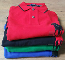 BNWT MENS Polo Ralph Lauren Big Pony Custom Fit Long Sleeve Polo Shirt S M L XL