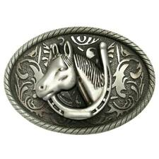 Vintage Western Belt Buckle Arabesque Horse Cowboy Cowgirl Classic Casual