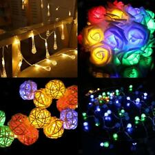 19Yard 30 Lights Solar LED Fairy String Christmas Wedding Party Outdoor Decor