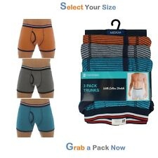 MENS 3 PACK COTTON STRETCH TRUNKS UNDERWEAR SHORTS SMOOTH COMFORTABLE