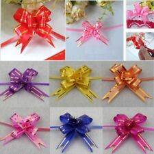 10-50 LARGE Ribbon Bows assorted colours easy pull flower ribbon party decor