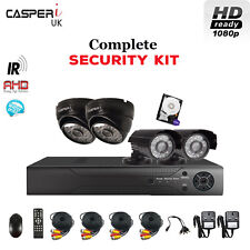 1080p Security Kit HD Bullet and Dome Cameras CCTV 4CH HDMI DVR Complete System