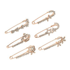 Glitter Sparkly Crystal Safety Pin Brooch Pin Brooch Pin Jewelry - Rose Gold