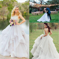 Elegant Ball Gown Wedding Dresses Formal Organza Beading Bridal Bride Gowns 0610