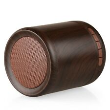 AE-29 Portable Mini Wooden Bluetooth Speaker Wireless Stereo Woofer AUX/TF Mic