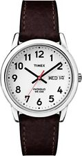 Timex Mens Easy Reader Brown Leather Strap Watch- Pick SZ/Color.