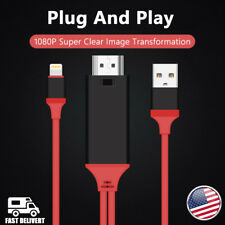 """1080P 2M 8 Pin Apple Interface to HDMI TV AV Adapter Cable For iPad Pro 12.9"""" US"""