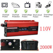 2000W LCD Power Inverter 12V DC 110V AC Modified Sine Wave Converter LOT Adapter