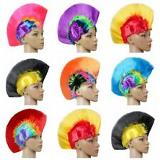 Unisex Cool Mohawk Hair Wig Mohican Punk Rock Dress Cosplay Party Costume LED