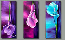 Framed Wall Art Handmade Canvas Modern Abstract Floral Oil Painting Decor set151