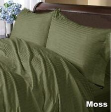 1000TC EGYPTIAN COTTON MOSS STRIPE BEDDING ITEMS EXTRA DEEP POCKET FITTED'