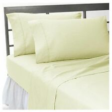 1000 TC EGYPTIAN COTTON IVORY SOLID BEDDING ITEMS EXTRA DEEP POCKET FITTED""