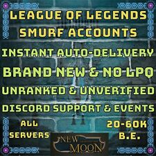League of Legends LOL Smurf Account | 20.000-60.000 BE | Unranked | New | Lvl 30